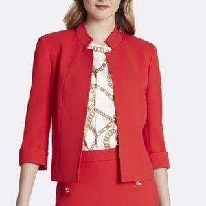 Tahari Plus Size Stand Collar Jacket